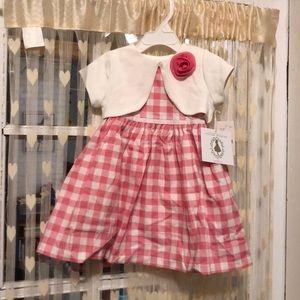 Pretty {pink + white} girls 3 piece dress